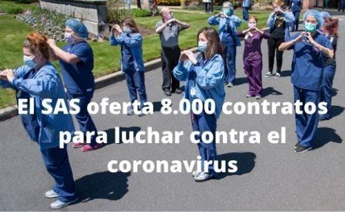 Empleo público: el SAS oferta 8.000 contratos para luchar contra el coronavirus