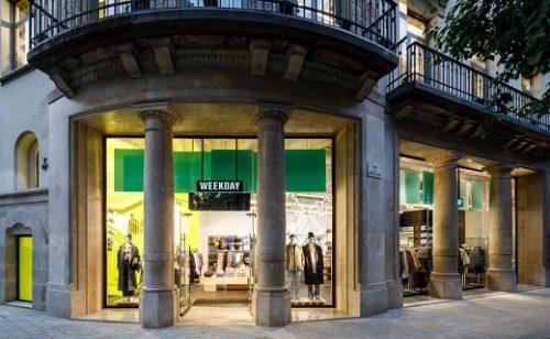 El grupo H&M abre en Barcelona una tienda de la marca Weekday